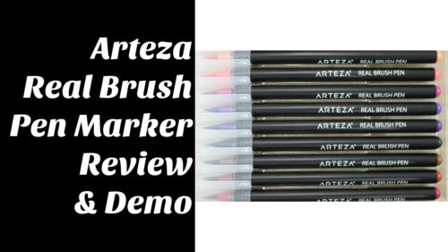 Arteza Real Brush Markers Review and Demo